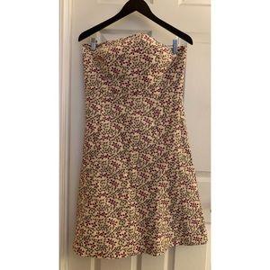 GAP Women's Floral Strapless Dress Sz 12